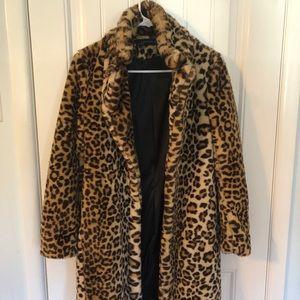 Zara Leopard Faux-Fur coat